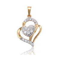 33554 xuping 18k gold plated fashion Mother's day gift heart pendant