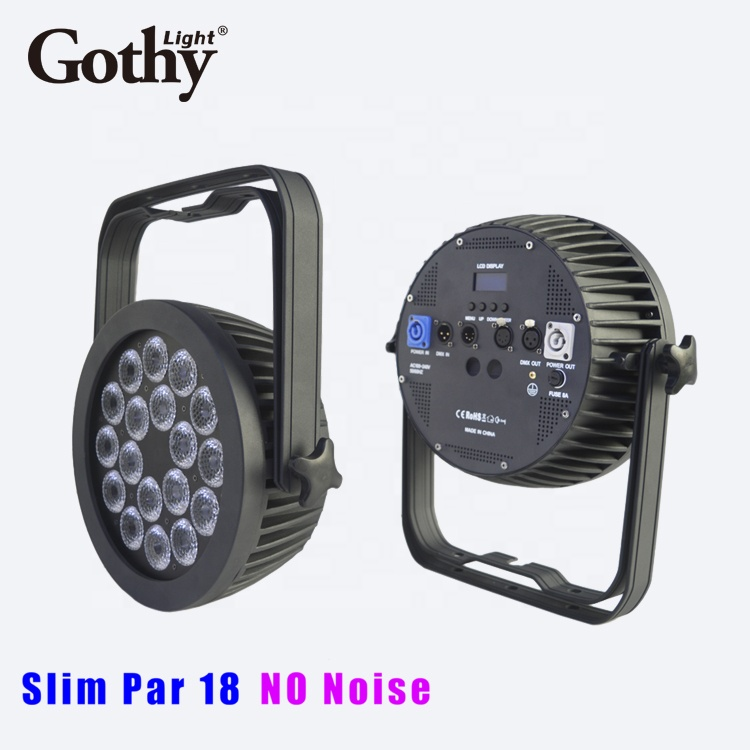 GT404-18LCD 18x10w RGBWW Slim led par can light