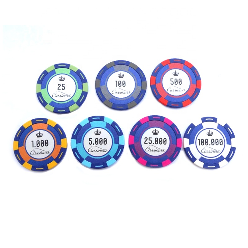 UV MARK afdrukken klei 14G poker chips