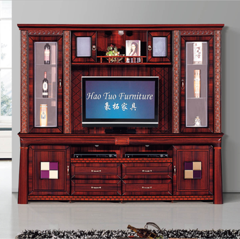 Classic Home Furniture MDF Wall Mounted TV Media Cabinet Design