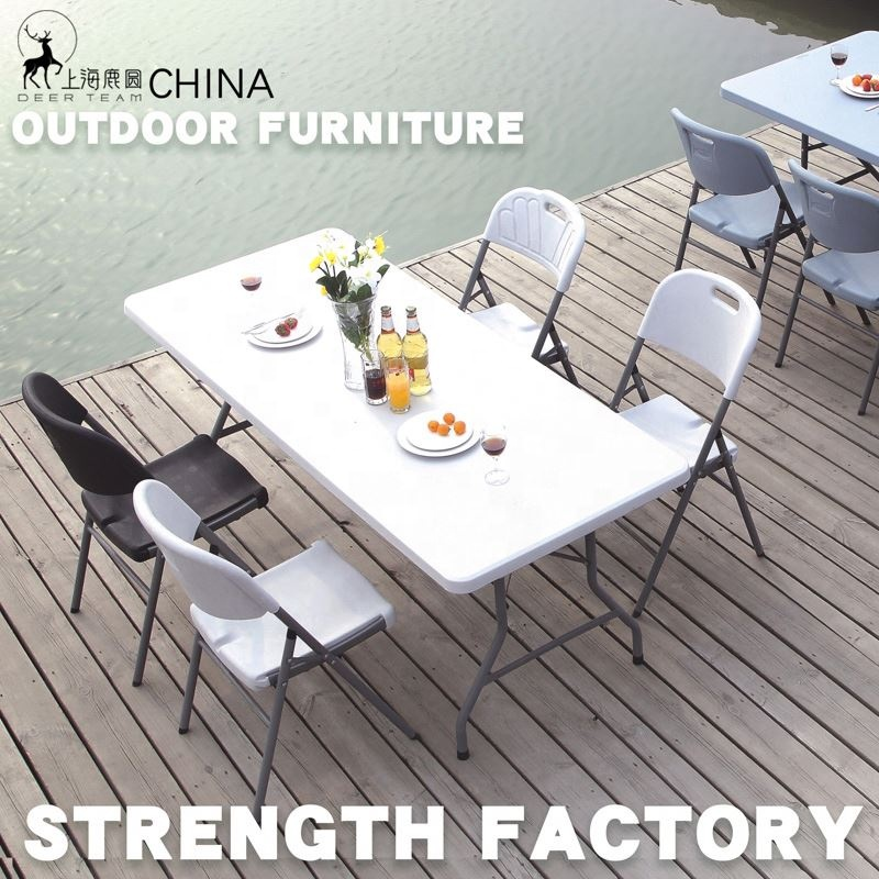 used plastic folding table and chair