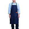 Custom aprons printed logo black denim artistic apron