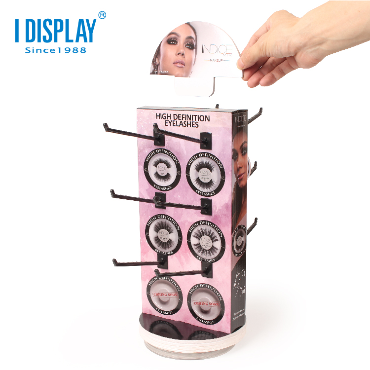 Customized PDQ Rack Cosmetic Cardboard Display Stand Hook For <strong>Retail</strong>