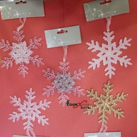 3D acrylic snowflake shape ornament for christmas tree hanging