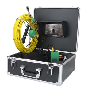 "7"" LCD monitor 8pcs LED Lights 30m Sewer Pipe Inspection Camera  IP68 Waterproof Drain Pipe Endoscope cctv pipe inspection camer"