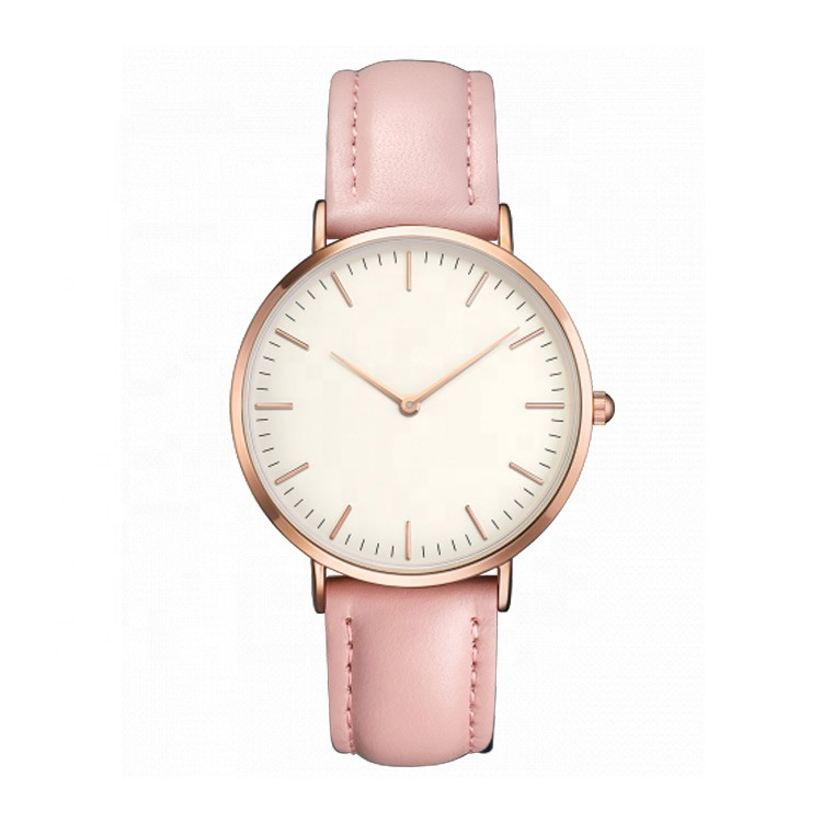 2019 hot selling Ultra thin 8mm wrist watch women ladies rose gold leather quartz watch фото