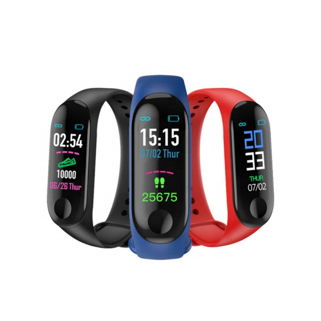 New products M3 fitness sports blood pressure monitoring smart band bracelet smart wach dropshipping фото