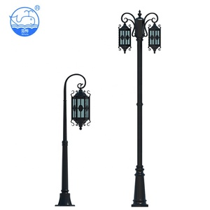 New Design 110/220/240V Decoration Solar Powered Led Post Lights Outdoor Garden Lamp