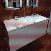 Mixed colors Joint invisible marble stone kitchen cabinet stainless steel wash basin for sale