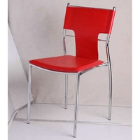 Colorful stackable dining chair with metal frame