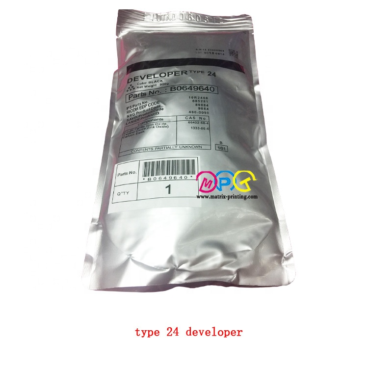 TYPE21 new compatible or remanufactured <strong>developer</strong> from japan, A2959640 ,suit for MP1085/1105/2090/2105