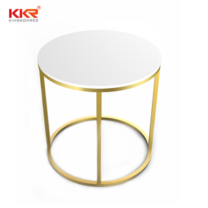 Chinese popular round marble bedroom furniture carved stone poker side table
