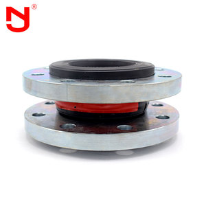 Flange type flexible rubber expansion connector joint coupling with hose clamps