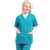 Medical scrubs cyan unisex v-neck nurse uniform anno medical scrub uniform