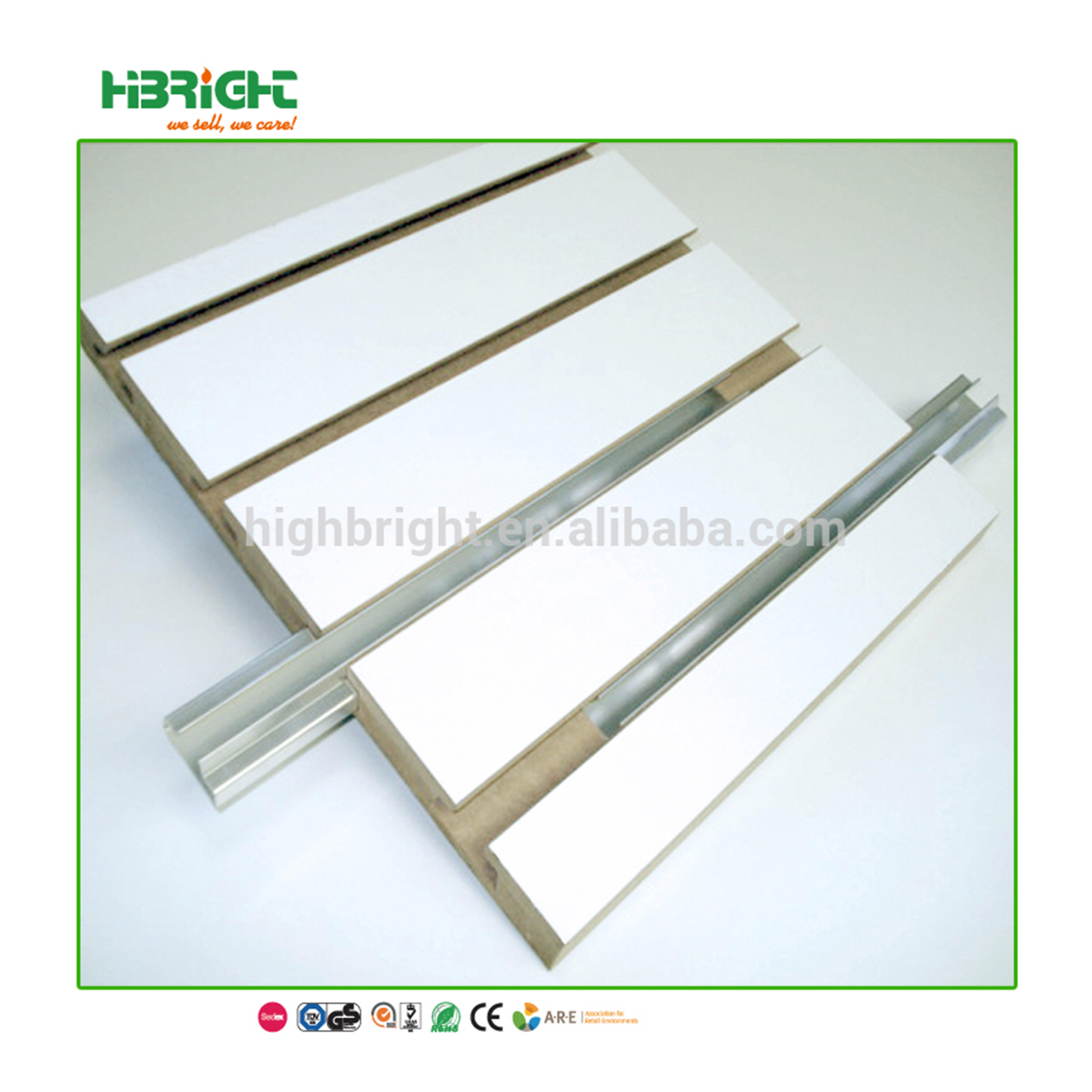 grade aluminium frame profile for MDF slatwall panel