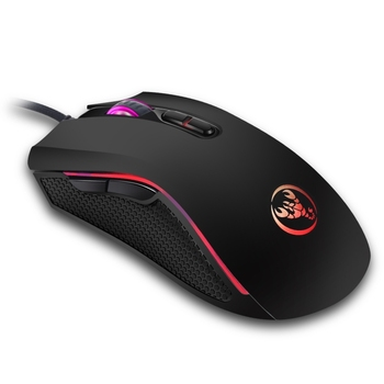 HXSJ A869 Colorful Glowing Wired Game 7-Keys 3200 DPI Adjustable Ergonomics Optical Mouse