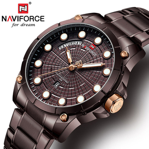 Naviforce 9152 2019 Men's Wrist Watches For Men Brand Quartz Clock Mens Watches Top Brand Luxury Stainless Steel Man Watch Gift