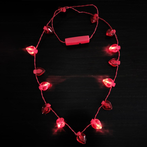 Eternal Love Arts Plastic 17 Red Hearts Led Flashing Light Necklace For Valentine'S Day