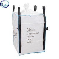 China High Quality Virgin PP 500kg 1000kg U Panel White Waterproof Heavy Duty Sand Packing FIBC Bulk Jumbo Big Bags