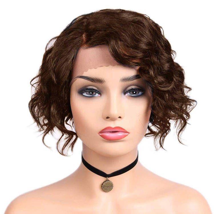 Alibaba.com / Wholesale Brazilian human hair lace frontwig, short bob wig for black women pre plucked virgin hair lace wig with baby hair