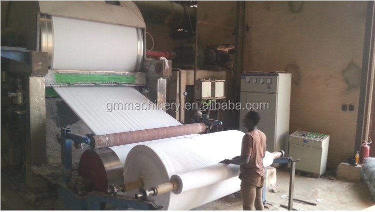 Pulp Toilet Tissue Paper Making Machine Jumbo Roll Toilet Paper Make Machine