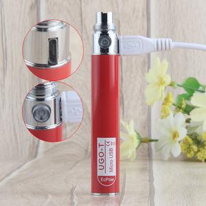 China Supplier Custom LOGO UGO T 650 mAh 510 Battery Micro USB EGO Pass  Through Evod CBD Vape Pen Ecig Rechargeable Battery