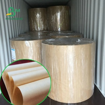 SGS FDA Approved Brown Craft Paper Reel With PE Material Coated To Wrap Food
