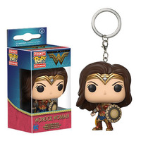 New Arrive Keychains Stranger Things wonder woman Funko Pop Keychains pocket key chain ring