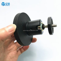 Strong Powerful NdFeB Magnetic Force Rubber Coated Magnet Mount with Ball Head for GoPro Cameras