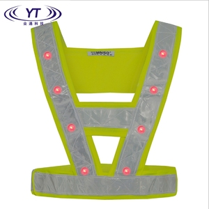 Hot sale retractable custom waistcoat vest led safety vest in the evening
