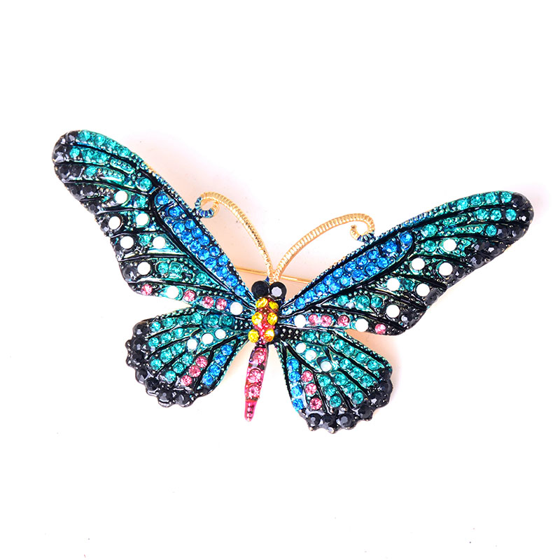 Fashion Women Costume delicate Brooch Pins Jewelry Clothes Accessories Colorful Rhinestone Butterfly Brooch фото