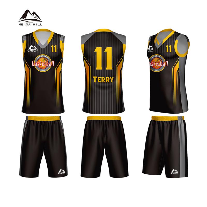 New season custom wholesale basketball jersey reversible uniform no design фото
