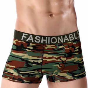 Cotton Printed Underwear Men's Fashion Camo Breathable Boxer Briefs