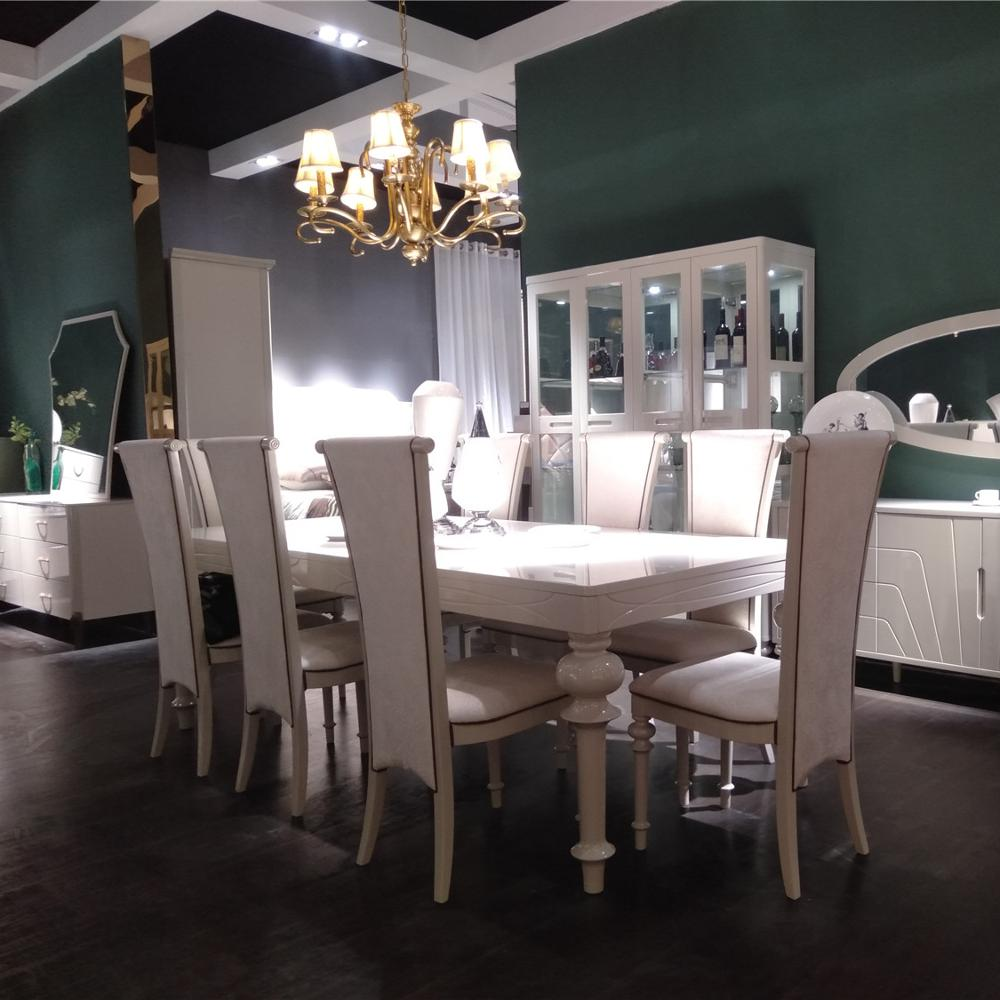 2020 Modern wooden 8 seater solid wood dining table set, View dining table  new model, ZOE Product Details from Foshan Qiaoyi Furniture Co., Ltd. on ...