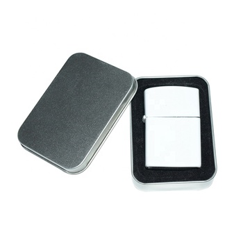 White metal blank sublimation lighter printing coated blank lighters heat press printing white lighter with logo