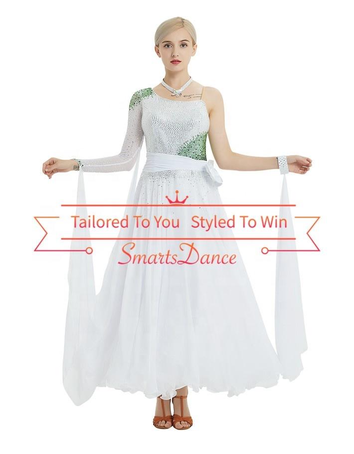 08bce102100 Nuevo diseño de baile, vestidos de manga larga de la competencia vestidos  vals vestido Flamenco