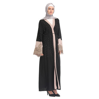 Stone 2019 Elegant Pakistan Abaya Black New Arrival Islamic Clothing For Hot Sale High Quality Moroccan Muslim Latest Thobe