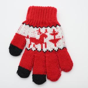 Lady Winter fashion knitted Magic gloves children Magic jacquard gloves Christmas gloves