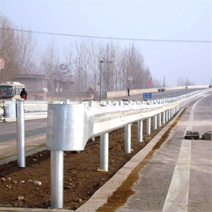 Easy installation durable two waves barrier new corrugated w beam highway guardrail for sale
