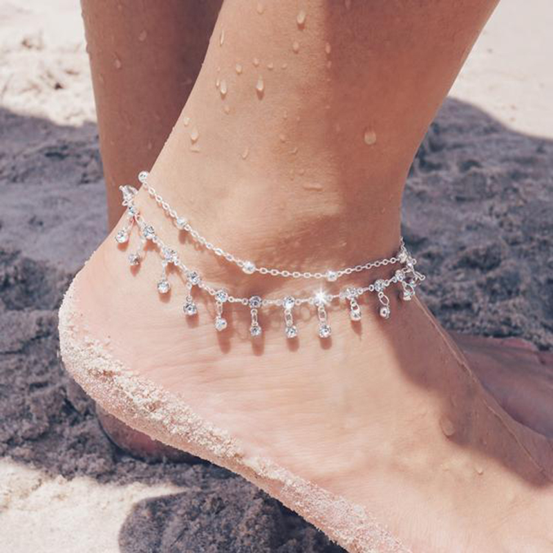Alibaba.com / Fashion Jewelry Silver Plated Bohemian Beach Multilayer Bell Anklets foot jewelry anklet For Women Wholesale