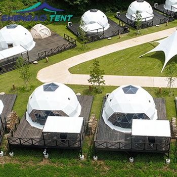 Good Light Transmittance And Uv Protection Waterproof Dome Yurt Tent