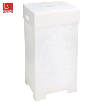 PP plastic waste dust  bin garbage recycling corrugated recycle bin