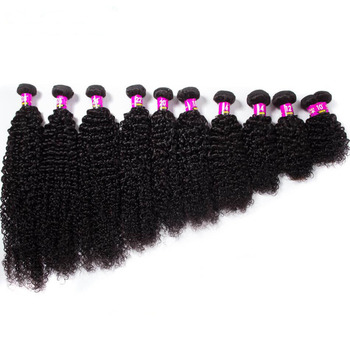 CELIE Unprocessed Brazilian Kinky Curly Hair Weaves with Frontal Closure Good Quality Cheap Hair Bundles with Closure