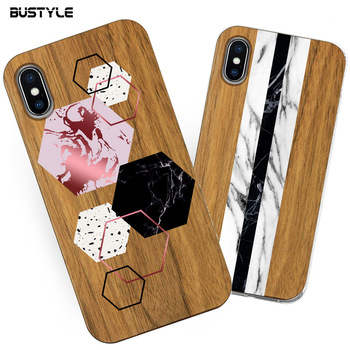 Smartphone Accessories Natural Wooden Hybrid Blank Wood Phone Case For Iphone X Xs Max Xr Bamboo Case Cover For Samsung Galaxy