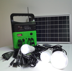 Mini solar power lighting system with 10W light solar panel solar module