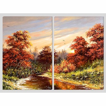 Easy Landscape Watercolor Canvas Art Work Painting Buy Photo Canvas With Led Product On Alibaba Com