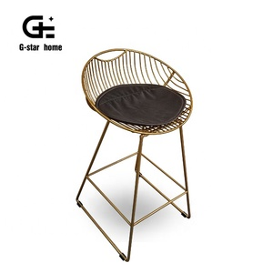 Modern Bar Furniture Gold Leisure Bar Chair Wholesale Metal Wire Chair for bar