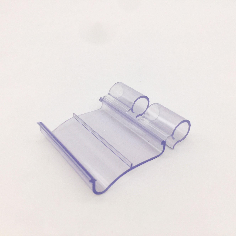 Hiplastics Ekstrusi Promosi Elektronik ESL Rak Data Strip PVC Harga Digital: Label Holder untuk Hook Strip