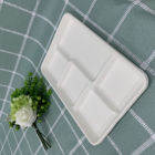 disposable dinnerware sets compostable plastic tableware substitutes 5-compartment food tray