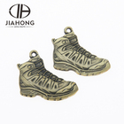 High quality metal brass shoe shape boot keychain